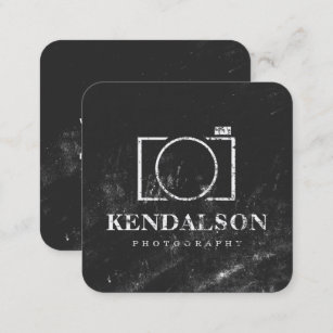 Photography business cards templates zazzle square chalkboard photography square business card colourmoves