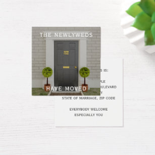 Change of address business cards templates zazzle square change of address cards colourmoves