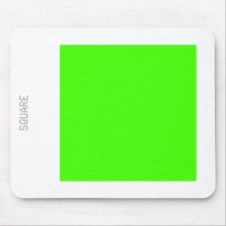 Square - Chartreuse Green and White Mouse Pad