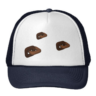 Square Chocoloate Chain Link Mesh Hat