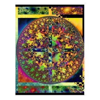 square circle postcard