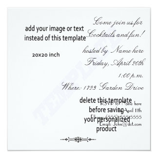 Square cocktail party template