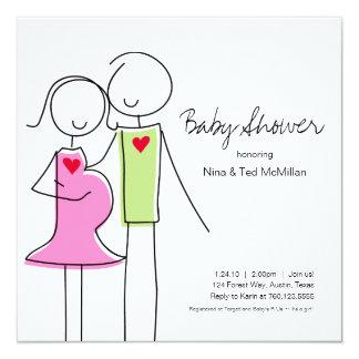Square Coed Baby Shower Invitations, 5x5