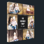 """Square Collage Custom Photo Wrapped Canvas<br><div class=""""desc"""">Personalize this canvas with your wedding photos to create a wall art to treasure forever. Background color can be customized online (to any color!</div>"""