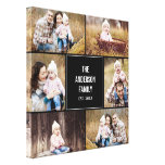 Square Collage Custom Photo Wrapped Canvas<br><div class='desc'>Personalize this canvas with your wedding photos to create a wall art to treasure forever. Background color can be customized online (to any color!</div>