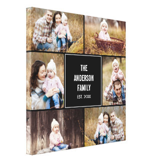 Square Collage Custom Photo Wrapped Canvas