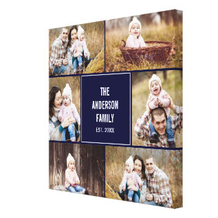 Square Collage Custom Photo Wrapped Canvas at Zazzle