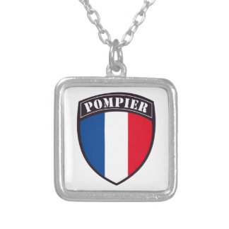 Square collar Fireman of France Silver Plated Necklace