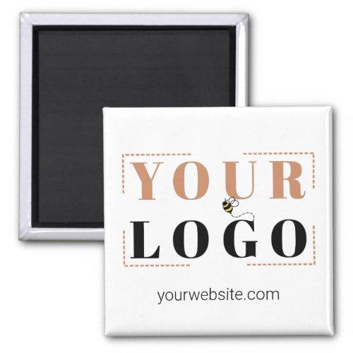 Square Company Logo Branding and Website Magnet