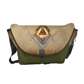 Square & Compass with All Seeing Eye Courier Bag