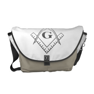 Square & Compass with Inset G - Ombre Courier Bag