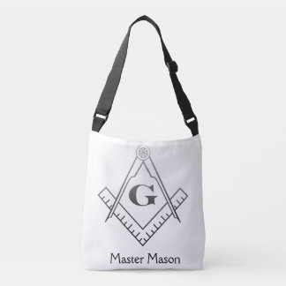 Square & Compass with Inset G - Ombre Crossbody Bag