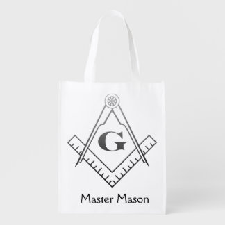Square & Compass with Inset G - Ombre Grocery Bag