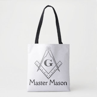 Square & Compass with Inset G - Ombre Tote Bag