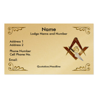 Square, Compasses and Trowel Business/Profile card Double-Sided Standard Business Cards (Pack Of 100)