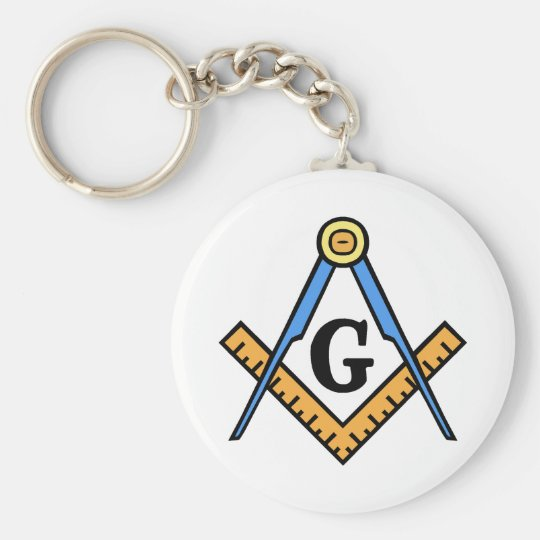 Square & Compasses Keychain
