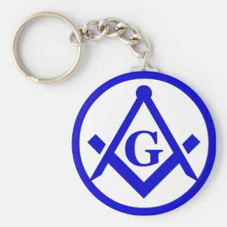 Square & Compasses Keychain