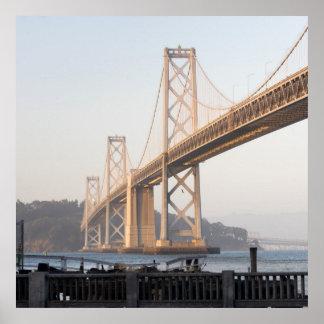 Square Composition Bay Bridge San Francisco CA Poster