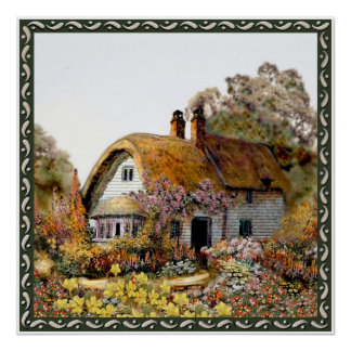 Square Country Cottage Print