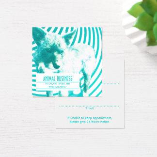 square crazy hazie pet appointment reminder square business card