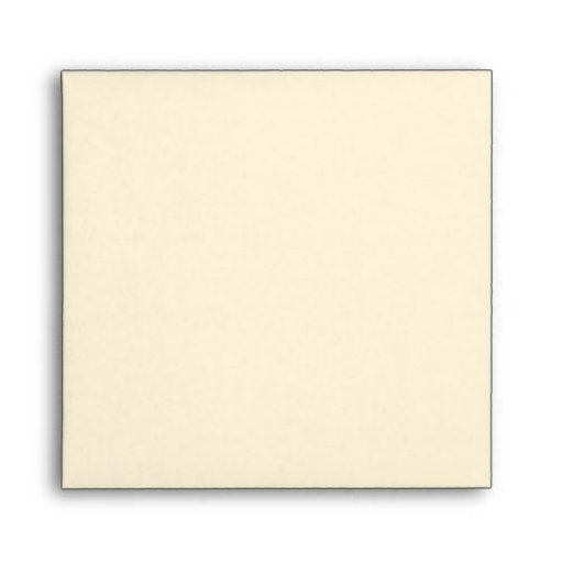 Square Cream Damask Flap Monogram Envelopes