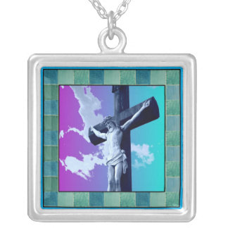 Square Crucifix Necklace