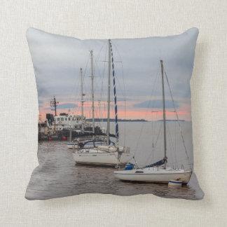 Square cushion Marina and Bateaux #1