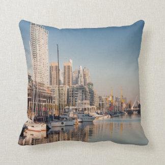 Square cushion Marina and Bateaux #2
