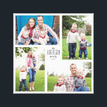 "Square Custom Family 4-Photo Canvas<br><div class=""desc"">Capture the year&#39;s memories in a customizable square print with four of your favorite family photos,  name and year.</div>"