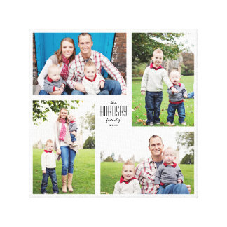 Square Custom Family 4-Photo Canvas