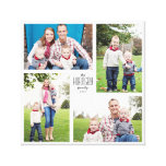 Square Custom Family 4-Photo Canvas Canvas Print