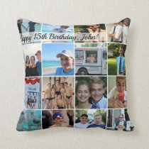 Square custom photo pillow - unique keepsake gift