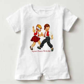Square Dance Baby Romper