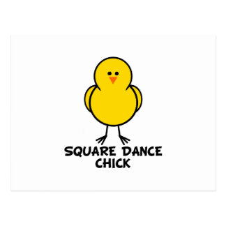 Square Dance Chick Postcard