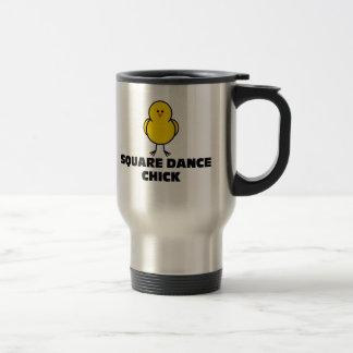 Square Dance Chick Travel Mug