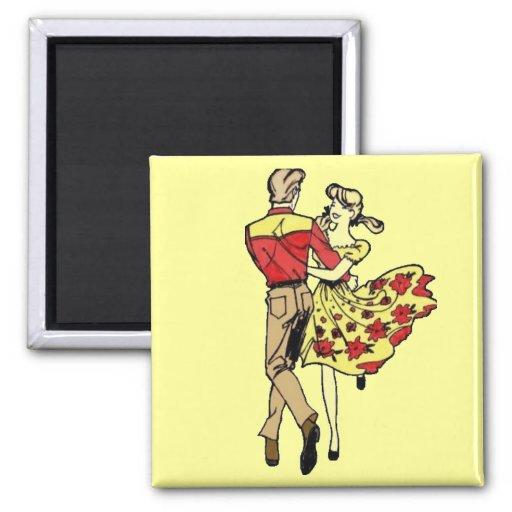 Square Dance Couple Fridge Magnet