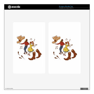 Square Dance Decal For Kindle Fire