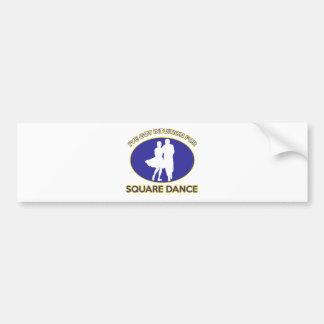 square dance design bumper sticker