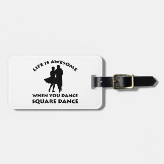 square Dance Designs Bag Tag