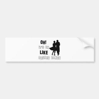 square Dance Designs Bumper Sticker
