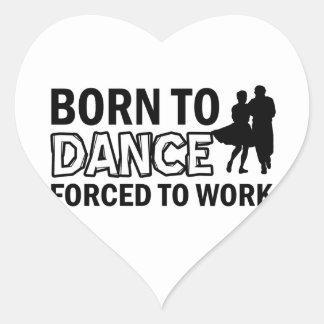 square-dance designs heart sticker