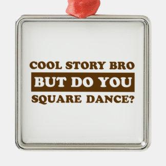 square Dance Designs Metal Ornament