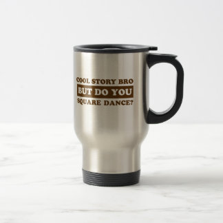 square Dance Designs Travel Mug