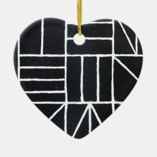 Square Dance ( line minimalism ) Ceramic Ornament