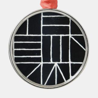 Square Dance ( line minimalism ) Metal Ornament