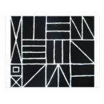 Square dance (línea minimalism) postal