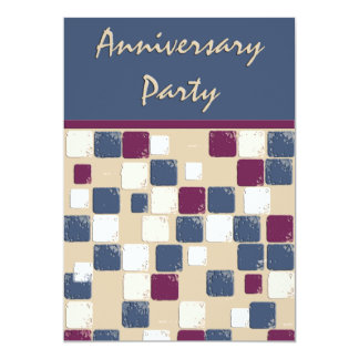 Square Dance Mosaic  Anniversary Party Card