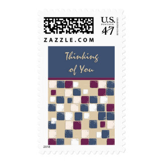 Square Dance Mosaic Thinking of You Postage