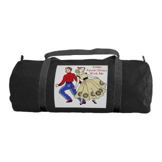 Square Dance Motif Duffle Bag