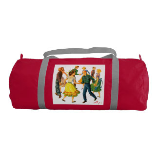 Square Dance Motif Gym Bag